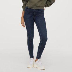 H&M Super Skinny High Waisted Jeans - Dark Blue